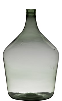 Ваза Bottle 15L H46 D29 Mouthblown Recycled green - фото 8940